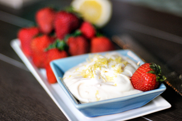 lemon vanilla cream cheese fruit dip