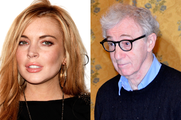 Lindsay Lohan dines with Woody Allen