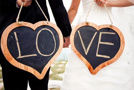 Love chalkboards for wedding