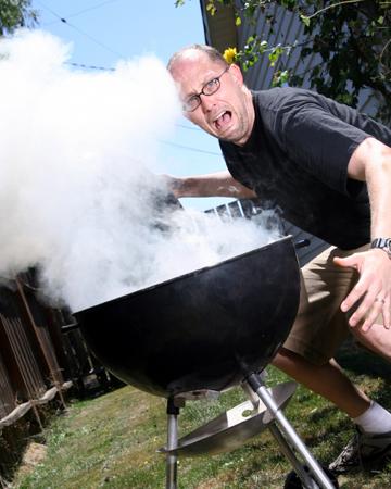Man on grill