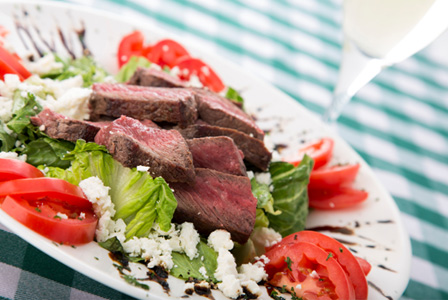 Greek style steak salad