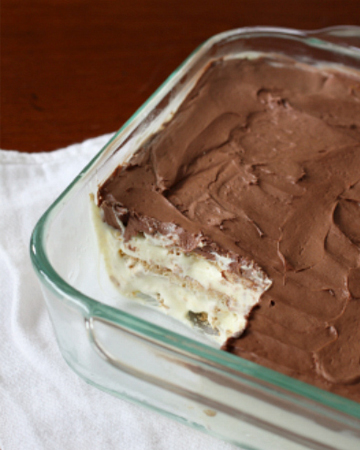 Chocolate Eclair Icebox Cake
