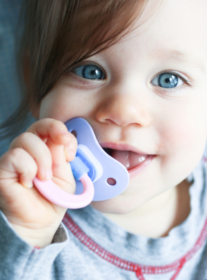 Pacifier in baby's mouth