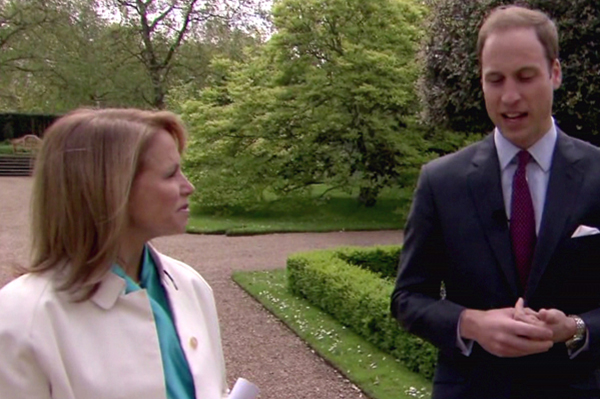 Prince William talks to Katie Couric about Princess Diana