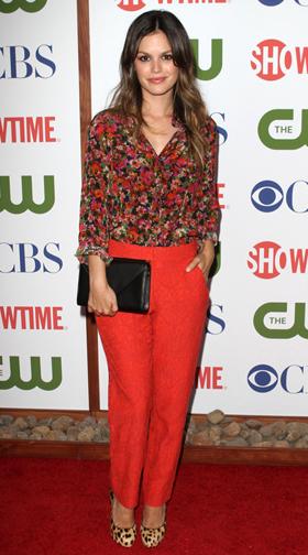 Rachel Bilson wearing a flora shirt