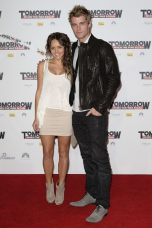 Rebecca Breeds and Luke Mitchell Engagement