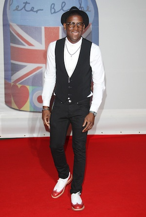 Labrinth arriving at the Brit Awards