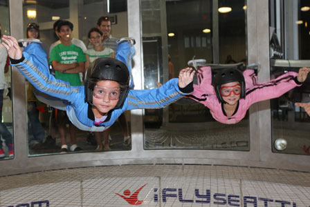 Indoor skydiving for adventurous families