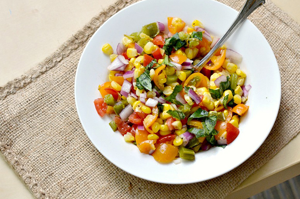Roasted corn and jalapeno salsa