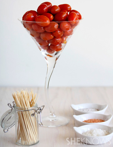 Spiked cherry tomatoes