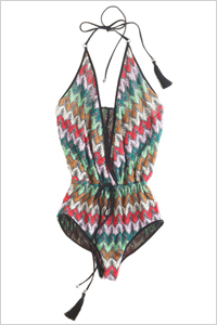 one-piece halter swimsuit