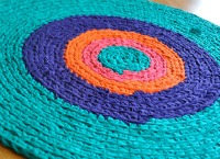 Jewel toned rug