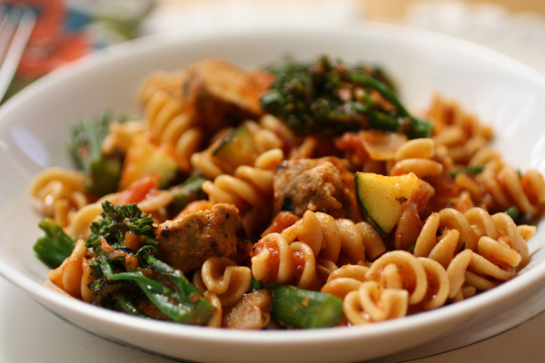 ... -dinner-whole-wheat-pasta-with-grilled-vegetables-and-sausage.jpg