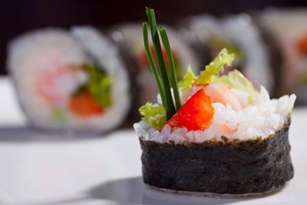 Sushi with bluefin tuna