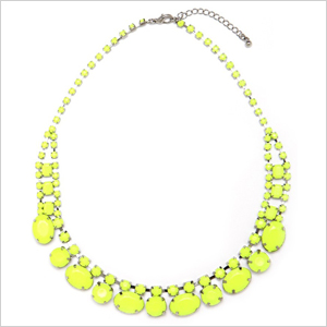 Neon pavé necklaces