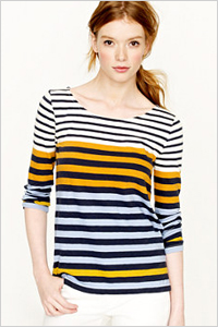 Colorblock stripe T ($39.99, J.Crew)