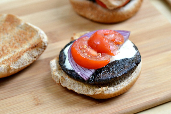 Grilled portobello cheese