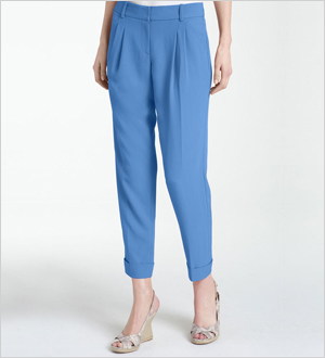 Classiques Entier 'Malin' Pleated & Cuffed Ankle Pants