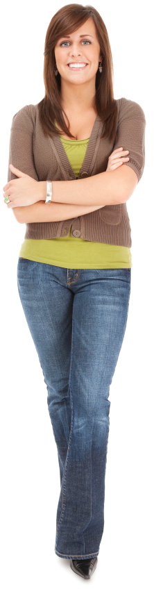 Woman wearing jeans