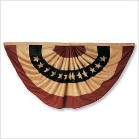 Antique Look American Flag Bunting