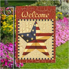 Patriotic Welcome Americana Garden Flag
