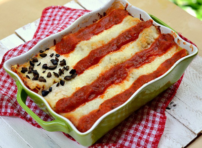 4th of July flag lasagna recipe