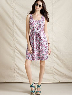 Tommy Hilfiger sleeveless floral print A-line dress