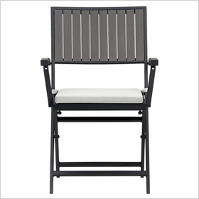 Alfresco grey folding chair