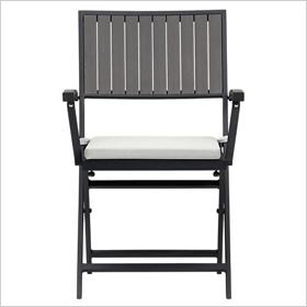 Alfresco grey folding chair