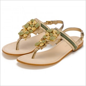 Caroline Cree Gold Rush Sandals, $325.00 at carolinecree.com