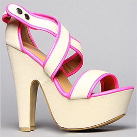 Fiebiger The Sunrise Shoe in Nude Beige and Neon Pink, $110.00 at karmaloop.com