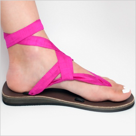 Sseko Fuchsia Wedding Sandals, $60.00 at ssekodesigns.com
