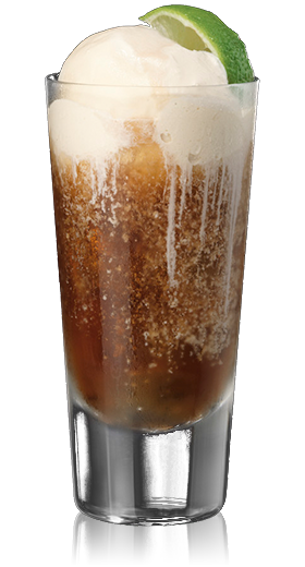 rum and coke float