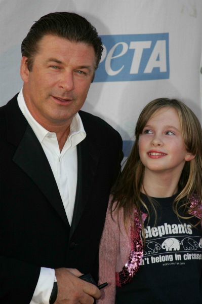Alec Baldwin with Daughter Ireland