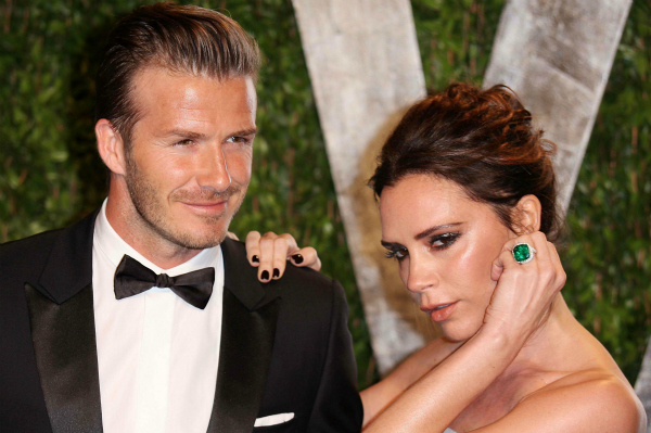 David and Victoria Beckham at 2012 Vanity Fair Oscar Party