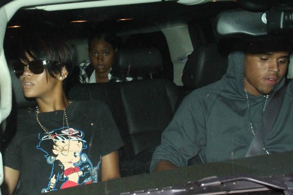 Rihanna and Chris Brown Leaving Dinner Together
