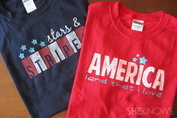 Make your own patriotic T-shirt