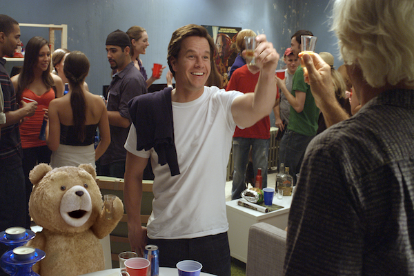 Ted and Mark Wahlberg party