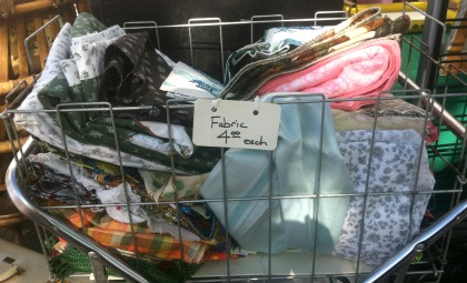 Cloth napkins fabric bargain bin