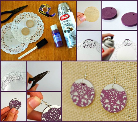 diy earrings collage