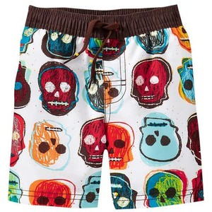 skull swim trunks