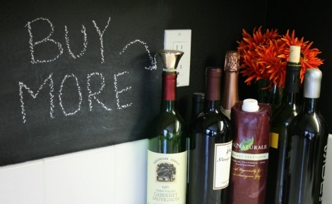 wine chalk wall
