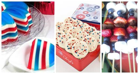 red white blue foods bottom desserts