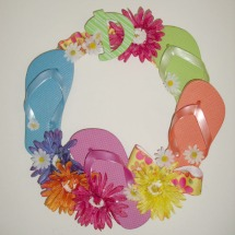 flip flop wreath