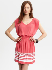 striped hem cover up