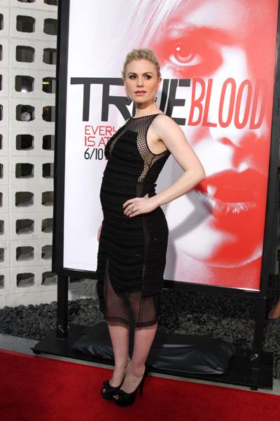 Pregnant Anna Paquin at True Blood premiere