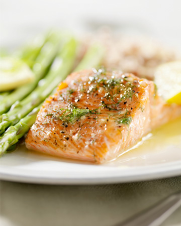 Asian marinated salmon filet