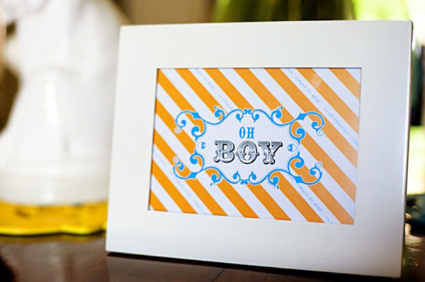 Baby shower decor -- printables