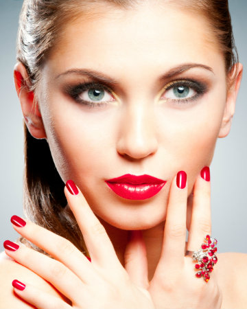 Beautiful red manicure