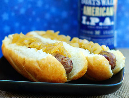 Father's Day beer bratwurst recipe